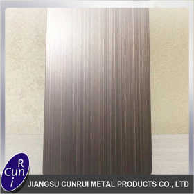HL hairline and NO.4 finish stainless steel sheet